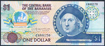 Bahamas 1 dollar 1992 Pick 50