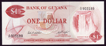 Guyana 1 dollar 1966 Pick 21