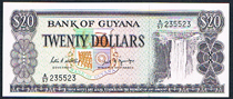 Guyana 20 dollars 1998 Pick 24 210