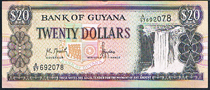 Guyana 20 dollars 1989 Pick 30