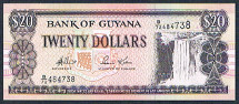 Guyana 20 dollars 2009 Pick 30 new sigs