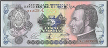 Honduras 5 lempiras 2010 Pick new