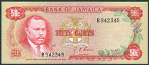 Jamaica 50 cents 1970 Pick 53