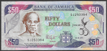 Jamaica 50 dollars, 2012 (Pick 89)