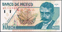 Mexico 10 pesos 1994 Pick 99