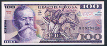 Mexico 100 pesos 1982 Pick 74