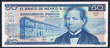 Mexico 50 pesos 1981 Pick 73