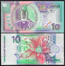 Suriname 10 gulden, 2000 (Pick 147)