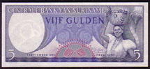 Suriname 5 gulden 1963 Pick 120