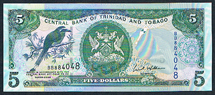Trinidad 5 dollar 2006 Pick 42