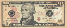 USA 10 dollar Series 2013