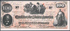 USA Confederate States 100 dollars 240