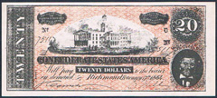USA Confederate States 20 dollars 240