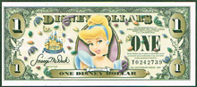 USA Disney 1 dollar Cinderella