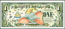 USA Disney 1 dollar Dumbo
